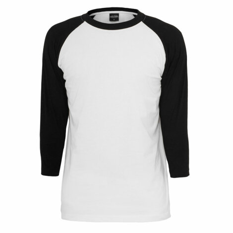 Undershirt Baseball Raglan 3/4 White/Black