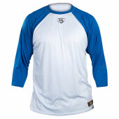 Louisville Slugger 3/4 Shirt Youth Weiß/Blau Youth L