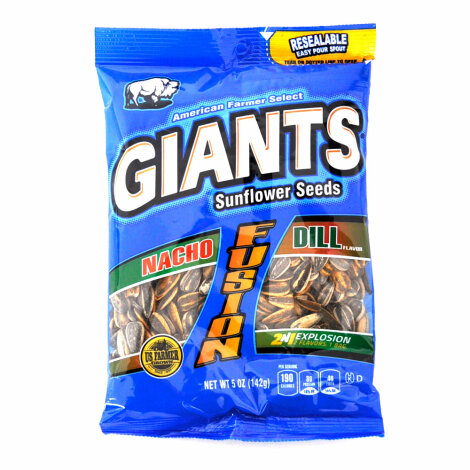 Giants Sunflower Seeds Fusion 2in1 Nacho Dill