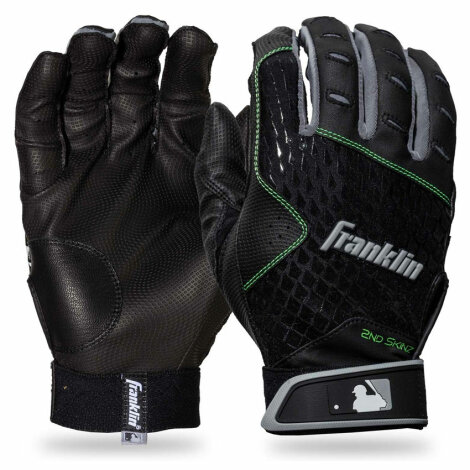 Battinggloves Franklin 2nd Skinz Schwarz/Schwarz