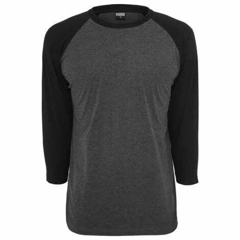 Undershirt Baseball Raglan 3/4 Charcoal/Black