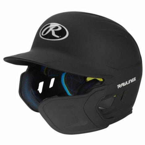 Baseballhelm Rawlings Mach EXT Flap Junior (RHB | Schwarz)